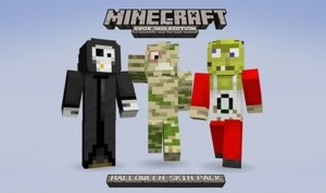 Three New Rare Skins in the Minecraft Halloween Pack