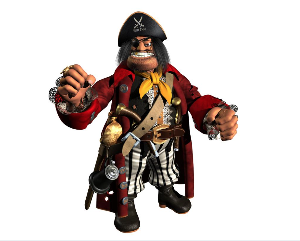 Avast There! Project Dream Model Of Captain Blackeye Surfaces