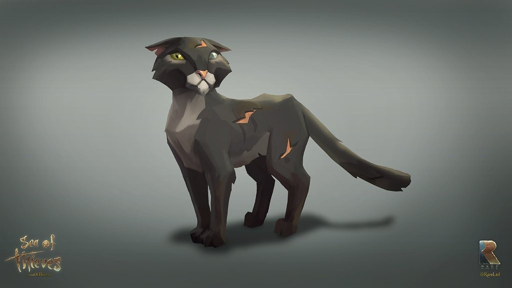 Sea of Thieves Cat Concept Art
