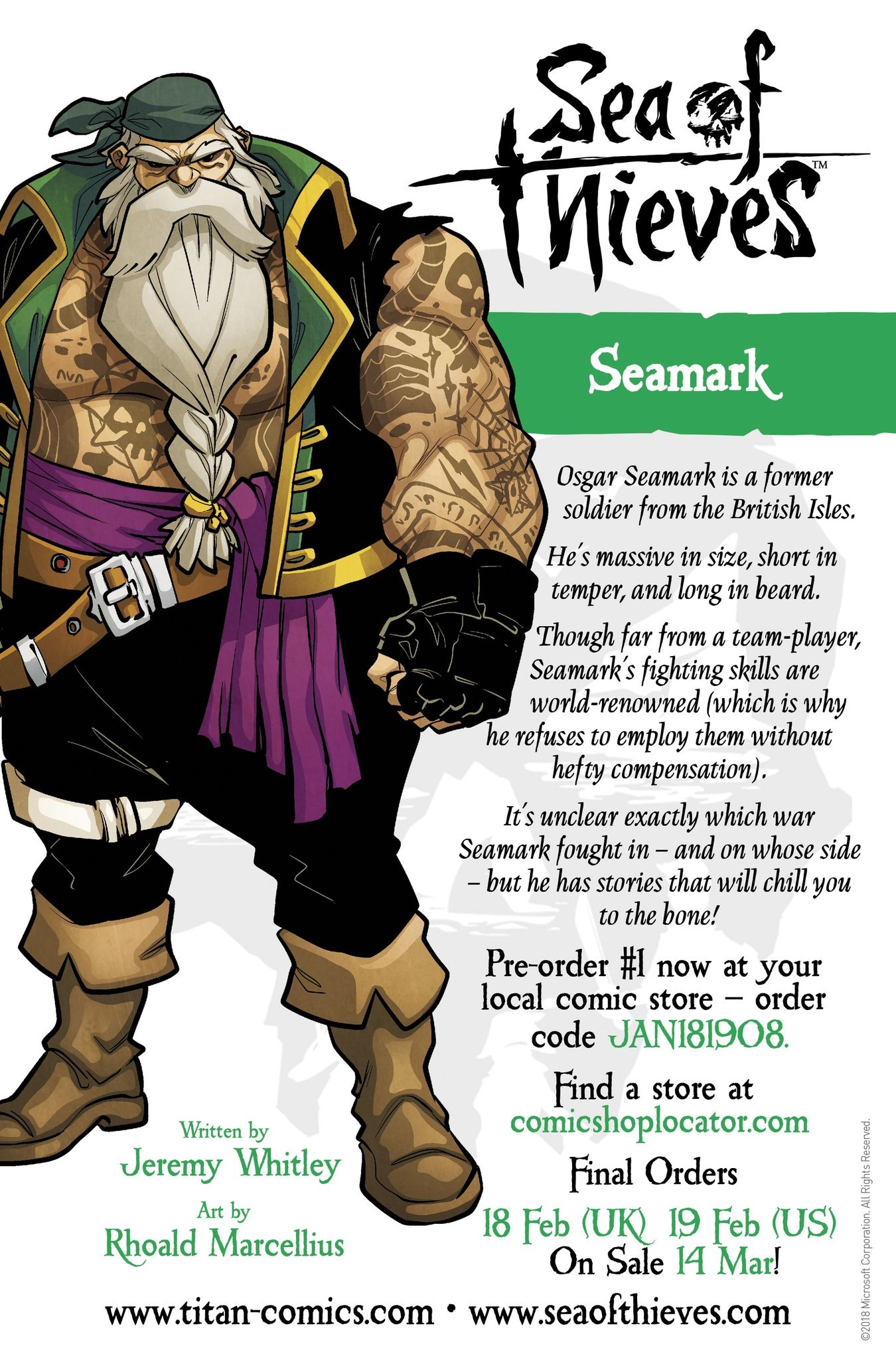 Official Sea Of Thieves Comics Character Previews #1 & #2